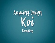 "Check out new work on my @Behance portfolio: ""Koi Amazing Design"" http://be.net/gallery/54556127/Koi-Amazing-Design"