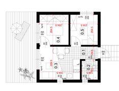 Dom modułowy, nowoczesny - BoXi1. Dom do 35m2. CONTiBOX Floor Plans, Studio, Ranch, House, Studios, Floor Plan Drawing, House Floor Plans