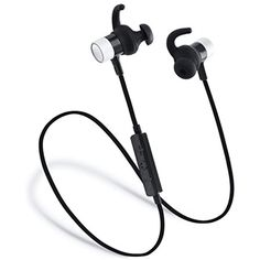 4ba4eb6c94e Laud Sports Bluetooth Wireless In-Ear Headphones - Premium HD Sound - Noise  Cancelling Stereo Headset Mic and Controls - Sweatproof Earphones - For Gym  ...