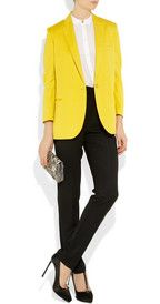 canary yellow blazer- Stella McCartney