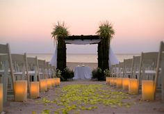 chuppah ideas...love the lights too