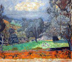 Pierre Bonnard, Landscape at Sunset (Le Cannet), 1927 on ArtStack Pierre Bonnard, Paul Gauguin, Landscape Art, Landscape Paintings, Art Pierre, Art Français, Edouard Vuillard, Great Paintings, Henri Matisse