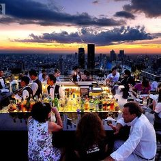 Vertigo/Moon sky bar, on top of the 60-floor Banyan Tree hotel. More slick and laid-back than the larger Sirocco. As the building is so narrow, you truly feel like you're on a ship, floating in mid-air.