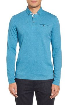 8473d974383dd TED BAKER YAMWAY MODERN SLIM FIT LONG SLEEVE POLO.  tedbaker  cloth