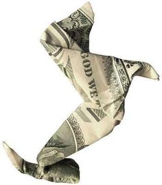 Dachshund origami money by ksrose Dollar Bill Origami, Money Origami, Origami Paper, Dollar Bills, Origami Gifts, Money Lei, Folding Money, Paper Folding, Dachshund Love