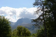 Ben Nevis from the Caledonian Canal looks beautiful but difficult to walk up.