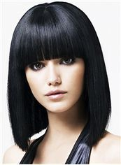 Pretty Short Straight Blonde Human Hair Wigs : fairywigs.com