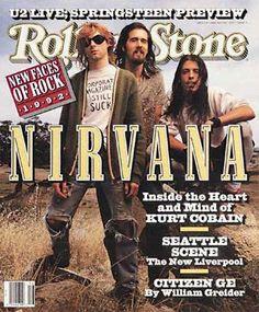 Kurt Cobain and Nirvana on the cover Rolling Stone Magazine