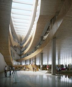 Snøhetta's proposal to build a library around a Calgary railway line.
