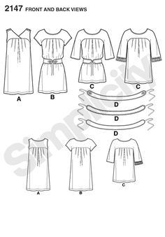 """Simplicity 2147 (30.5""""-40"""" busts), View B, 2 3/8 (Laundered Cottons, Eyelet, Crinkled Gauze, Voile, Soft Lightweight Linen, Matte Jerseys, Lightweight Double Knits) (notions: one package of 1/2"""" wide single fold bias tape)"""