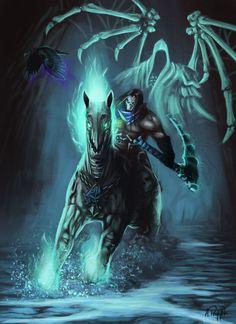 Darksiders 2 Fanart by AnnaP-Artwork Darksiders Horsemen, Darksiders Death, Geeks, Death Art, Horsemen Of The Apocalypse, Beautiful Dark Art, Futuristic Art, Fantasy Monster, Geek Art