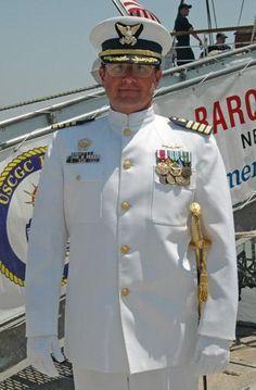 Navy Uniforms, Work Uniforms, Coast Guard Officer, Coast Gaurd, Military Dresses, Navy Blue Dresses, Navy Dress, Men In Uniform, Blue Backgrounds