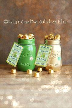 Teacher Gift - St. Patrick's Day - Office Decor - Mason Jar Decor - St. Patrick's Day Decor - Pencil Holder - Gifts For Teachers