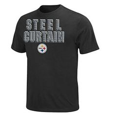 Get this Pittsburgh Steelers Black Inside Line T-Shirt at ThePittsburghFan.com