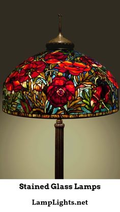 These original Tiffany Lighting lamps had stained portions and very bright colors appearing on different sections of the glass. Many of these Tiffany lighting products are hand-made making each and ev Tiffany Stained Glass, Stained Glass Lamps, Tiffany Glass, Leaded Glass, Stained Glass Windows, Mosaic Glass, Window Glass, Antique Lamps, Vintage Lamps