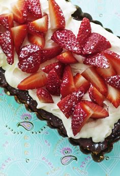 Klassisk jordbærtærte