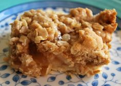 Apple Bars with Oatmeal Crumb Topping - Buttercream Bakehouse