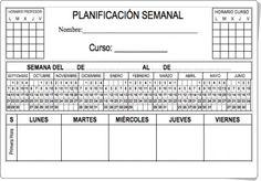 """Diversos """"Planificadores semanales"""" para Educación Primaria y Secundaria en la web orientacionandujar.es."""
