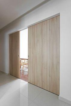 20 Beautiful Wooden Sliding Doors in the Living Room - Cozy Decoration Cavity Sliding Doors, Wooden Sliding Doors, Sliding Door Design, Internal Doors, Sliding Wall, Loft Door, Room Doors, Interior Barn Doors, Apartment Design