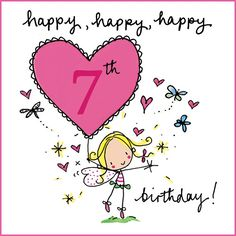 Beautiful Happy Birthday Cards Images and Pictures for greeting on happy birthday. You can send these best birthday card images to friends or family 7th Birthday Wishes, Happy Birthday Niece, Birthday Girl Quotes, Birthday Messages, Birthday Greetings, Happy Birthdays, Happy Birthday Cards Images, Old Birthday Cards, Bday Cards