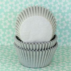 75 Silver Gray Cupcake Liners by HeyYoYo on Etsy, $4.75