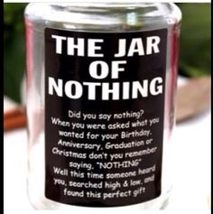 A great gift for anyone who has ever asked for nothing for there birthday or Christmas.