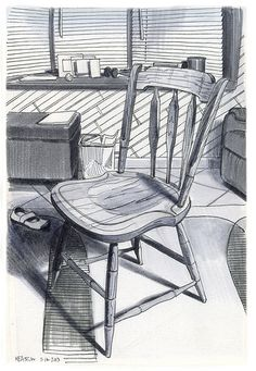 HEASTON, Paul, American artist: -- 'Chair in My Living Room' -- 16 MAY 2003'