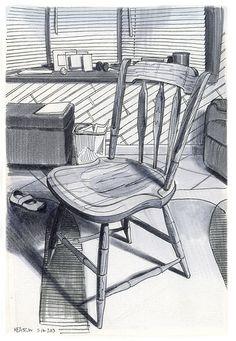 HEASTON, Paul, American artist: -- 'Chair in My Living Room' -- 16 MAY 2003'