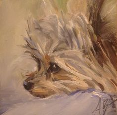 """Daily Paintworks - """"Max"""" by Annette Balesteri"""