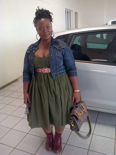 Plus Size Outfit: Studded Denim Jacket and Oxblooded Dr Martens http://thickfitandfabulous.blogspot.com/