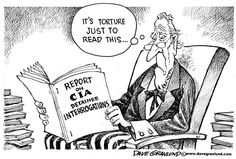 WHY NOW?... | Dec/9/14 Dave Granlund -  CIA torture report -  interrogations, detainees, terror suspects, intel, waterboarding, drills, bush, cheney, condi rice, uncle sam, torture, senate report, lies, lied