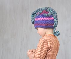16c9763bfa76e Child Beanie Hat Chameleon Hat Winter Spring Hat Knit Crochet Hat Animal Hat  Purple Pink Gray