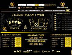 Temukan keseruan bermain poker online bersama champspoker.com. Poker online yang mendukung pembayaran lewat Bank BCA, BNI, BRI, Bank Danamon dan Bank Mandiri. champspoker.com menghadirkan permainan Poker, Domino 99, Capsa Susun, AduQ (Poker, QQ, Ceme, BlackJack). Dapat bermainan langsung pada situs/ website ataupun download aplikasi untuk android, ipone dan ipad. http://duniaonlineoke.blogspot.sg/2015/07/champspokercom.html