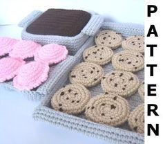 Play Food Crochet Pattern - Sweets and Treats - finished items made from pattern may be sold. $7.00, via Etsy.