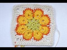 "How to crochet granny square ""Somalia"" - video tutorial"