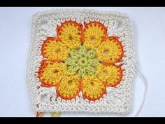Video tutorial for the African Flower square, also apparently known back in the 1970's as the Paperweight Granny Square. Whatever its called, its quite pretty!