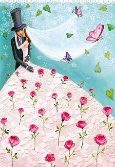 Примерила счастье… А мне идет… Буду носить. Художник-иллюстратор Mila Marquis.. Обсуждение на LiveInternet - Российский Сервис Онлайн-Дневников