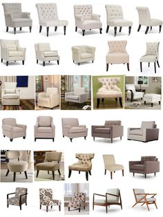 Beige and Tan Upholstered Chairs and Slipcovers www.UpholsterEase.com