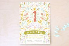 First Festival Children's Birthday Party Invitations tons of super cute party invites! Birthday Invitations Kids, Baby Invitations, First Birthday Parties, First Birthdays, Kid Parties, 5th Birthday, Birthday Ideas, Fairy Tea Parties, Tea Party