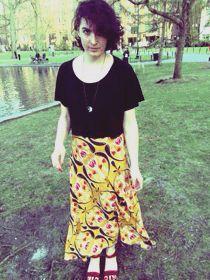 1/4 circle skirt! more on my blog