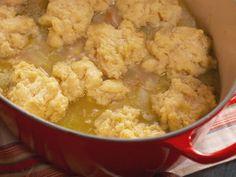 Farm-Style Chicken and Drop Dumplings Recipe : Nancy Fuller : Food Network Chicken And Drop Dumplings Recipe, Dumpling Recipe, Dumpling Soup, Homemade Dumplings, Turkey Recipes, Chicken Recipes, Dinner Recipes, Dinner Ideas, Okra Recipes
