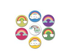 7 x Cute Rainbow buttons! Buttons Size: 31mm / 1.22 Inch Metallic Back With Safety Pin ***************************** All items will be dispatched in 1-2 days. Late Thursday and Friday orders will be dispatched on Monday. All weekend orders will be dispatched on Monday. Shipping Service Rainbow Party Favors, Button Badge, Pin Badges, Thursday, Safety, Metallic, Friday, Kawaii, Buttons