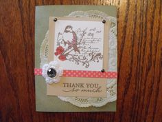 Thank You card. #Card, #Cardmaking  #CTMH   www.LaurenKelly.ctmh.com