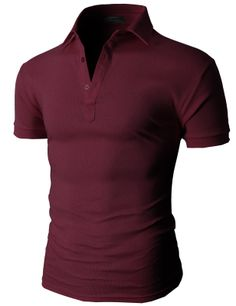 Doublju Men's Casual Solid Cotton Polo Shirts Short Sleeve (KMTTS077) #doublju