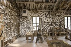 Ettore Guatelli collected and organized more than 60,000 objects on a farm in rural Parma, Italy.