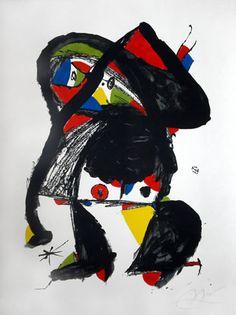 """Joan Miró Litografía """"El Golafre""""  1979  99.5 x 72.5 cm  Tirada 75 ejemplares  Numerada y firmada a mano  Certificada por el Editor  Catalogada con el nº 1185 """"Miro Litógrafo vol.VI""""  Precio: 7.500 €"""