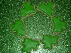 Celtic/Irish Mini Decorated Shamrock Sugar Cookies Order of 5 dozen