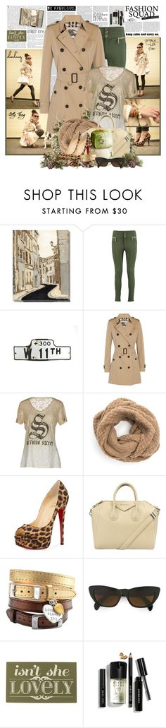 """Isn't She Lovely"" by summersunshinesk7 ❤ liked on Polyvore featuring Art Classics LTD, Boohoo, The Cambridge Satchel Company, Burberry, SCERVINO STREET, Christian Louboutin, Givenchy, Chambers & Beau, Moschino and Home Decorators Collection"
