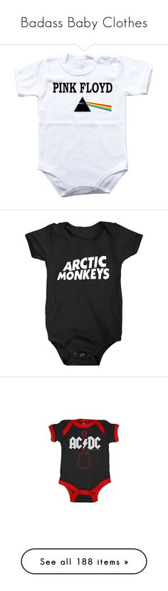 """""""Badass Baby Clothes"""" by fluffyunicorn124 ❤ liked on Polyvore featuring baby, baby clothes, kids, baby stuff, baby boy, baby things, baby girl, kids clothes, baby girl clothes and babies"""
