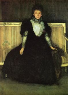 Green and Violet Portrait of Mrs. Walter Sickert - James McNeill Whistler